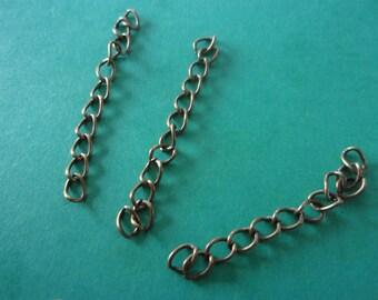 Metal bronze color extension chain - 5cm