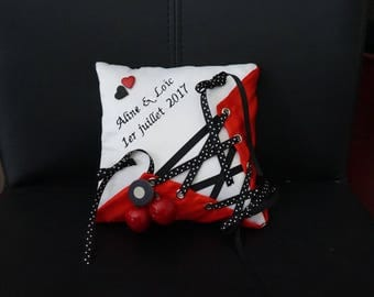 retro rockabilly corset cushion