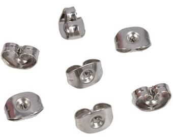 Set of 50 strollers de Metal Stainless Steel 316 - post earrings - silver - AABO15SST657-2