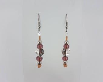 Boho earrings, bohemian earrings, leather earrings