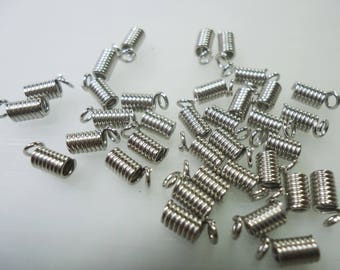 50 end caps is 0.5 MM silver metal