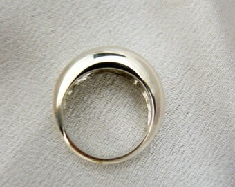 Silver simple band ring