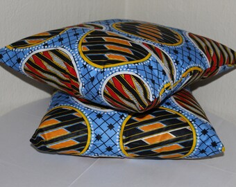 African print -Set of 4 African print pillow covers -  Pillow cases - 100% cotton - cushion cover - cushion case - Home decor