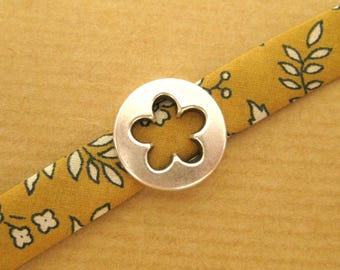Bracelet Ribbon Liberty Capel mustard & Flower
