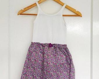 Girls floral sun dress (purple)