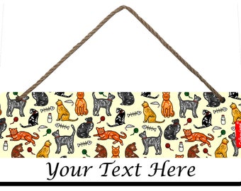 Selina-Jayne Cats Limited Edition Personalised Plaque, Door Sign, Wall Hanger
