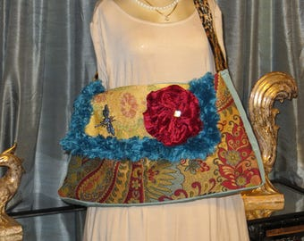 carpet bag/ boho funky handbag