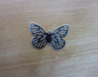 24 mm silver plated Butterfly charm
