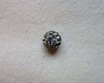 Polaris Pearl gray rhinestone 10 mm