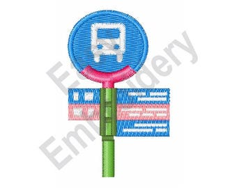 Bus Stop - Machine Embroidery Design