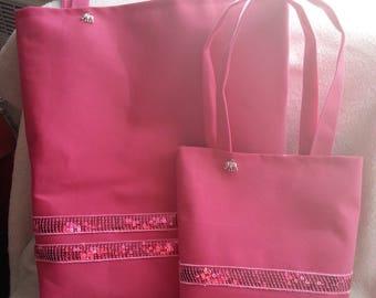 Mother daughter set pink