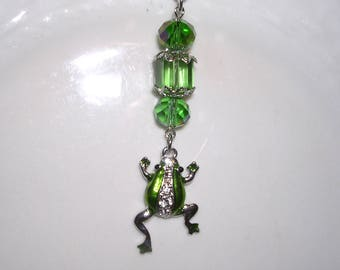 Green Frog Rear View Mirror Charm