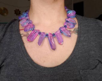 Unicorn Poop Quartz Statement Necklace