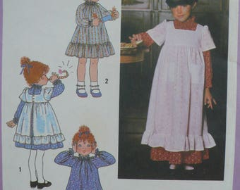Girl's Dress, Pinafore Pattern, Vintage Simplicity Pattern 8812 - Size 3
