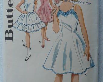 Girl's Slip Pattern, Princess Style, Vintage Butterick 9913, Size 8