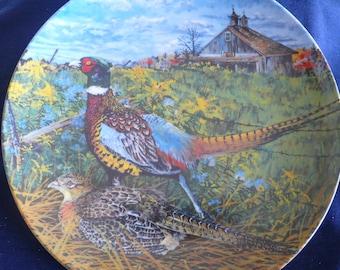 "Vintage Bradford Exchange Collectible Plate (circa 1986) - ""The Pheasant"" - Wayne Anderson"