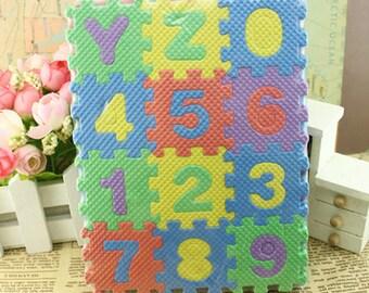 36pcs Miniature plastic foam puzzle/ floor play mat for Blythe BJD 1/4 1/3 1/6 yosd 1/8 lati 1/12 AC008