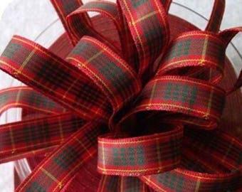plaid fabric Ribbon code 1053 CAMERON 7 mm
