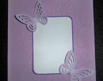 SCRAPBOOKING embossed card Butterfly color choice