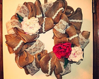 Floral Lace Wreath
