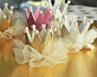 Crown hair clips