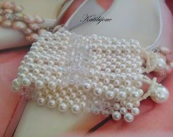 Cuff beads SeaWorld and Crystal beads