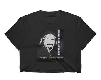 Alan Watts - You Are The Universe - Women's Crop Top