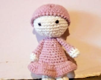 small doll bonnet embellished