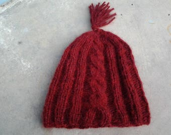 Ruby Red Winter Hat