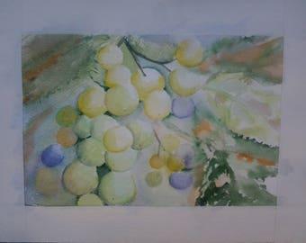 "watercolor ""fall softly"""