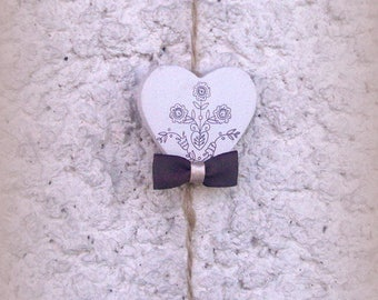 Wooden hearts GARLAND
