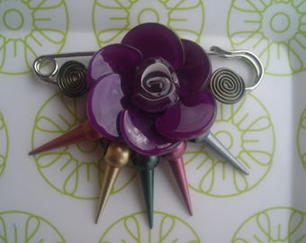 BROOCH flower * for coats, jackets, bags *.