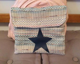 fabric bag adorned with a big star size
