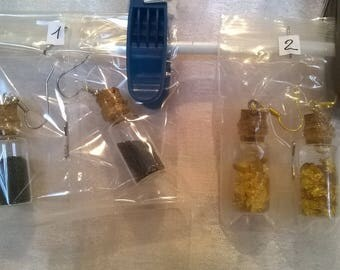 Glass and Cork earrings