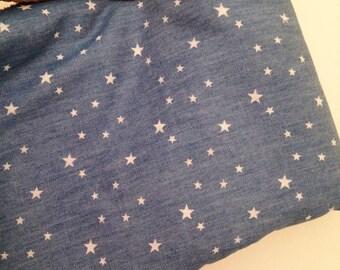 Denim fabric stars