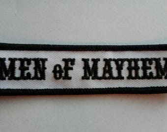 FREE Shipping*** Sons of Anarchy MEN oF MAYHEM Embroidered Patch ~ New