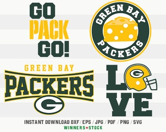 Green Bay Packers SVG, Cut Files, Digital Cutting File, Football Decal, Packers Logo, Layered Vector, dxf eps png jpg pdf, Winners_16