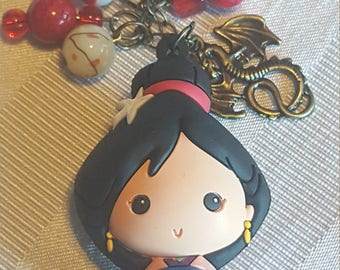 Disney Princess Mulan beaded keychain