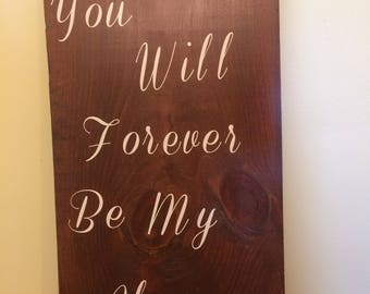 Handcrafted wedding sign