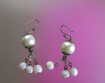 Snowball earrings