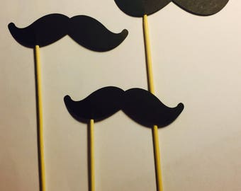 10 Mustache Decorations (Can be made in many different colors)