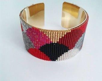 Beaded woven wide 3 cm