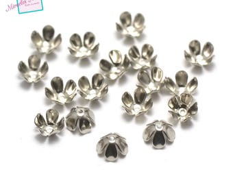 "100 cone/Cup/Cap adjustable ""flower"" 7 x 4 mm"