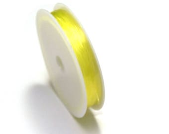 1 spool of thread, elastic, lemon (5 m x 0, 8 mm)
