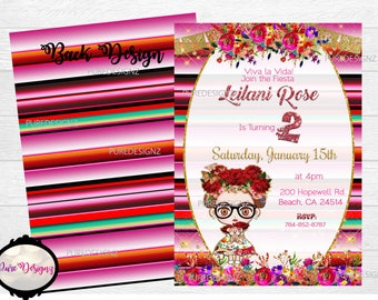 Frida Invitations, Frida Kahlo Invitations, Frida Party Invitation, Frida Invitaciones, First Birthday, Baby Shower, Bridal Shower