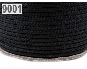 Black polyester cord 1 m