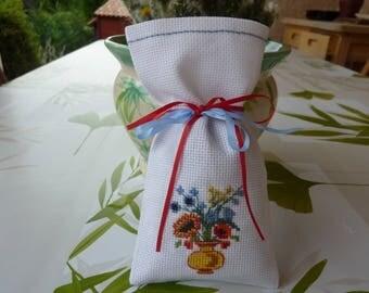 organic Lavender sachet, floral bouquet