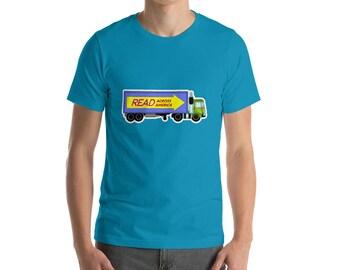Read Across America Truck T-Shirt reading school literacy dr seuss education curriculum  books library reading specialist teacher gift
