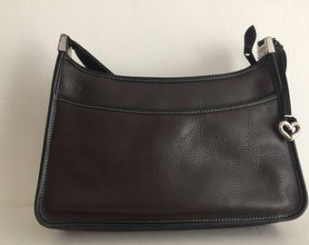 Brighton Pebbled leather Brown & Black shoulder bag