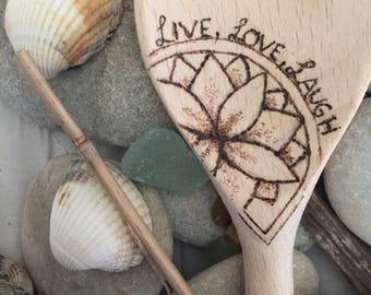 Pyrography wood spoon